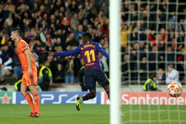 ديمبيلي مع برشلونة لمواجهة يونايتد في ربع النهائي