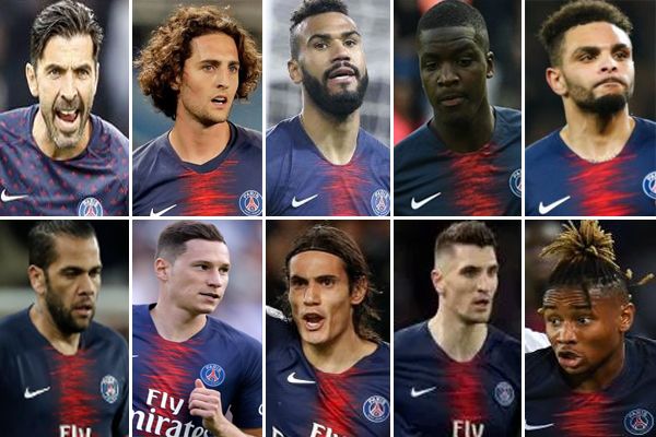 10 لاعبين مرشحون للرحيل عن باريس سان جيرمان الصيف القادم