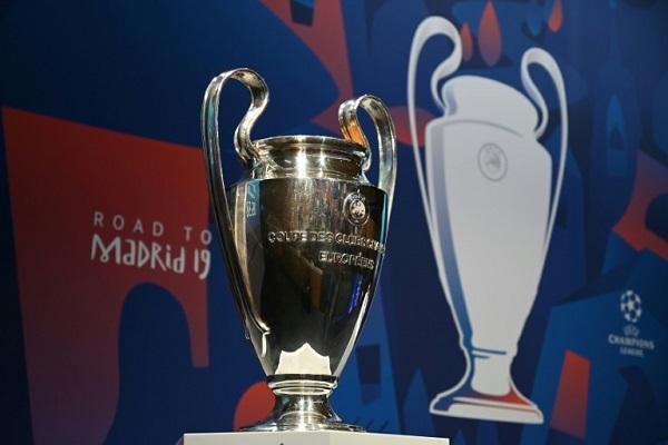 عرض كأس دوري أبطال اوروبا قبل قرعة ربع نهائي المسابقة في مدينة نيون السويسرية في 15 آذار/ مارس 2019