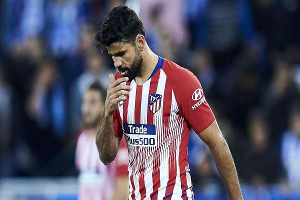 كوستا تعرض لإصابة في الكاحل خلال مباراة ودية لأتلتيكو في القدس
