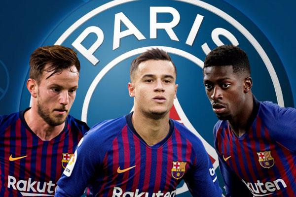 إدارة باريس سان جيرمان تواصلتمع ثلاثة لاعبين من برشلونة خلال فترة الانتقالات الصيفية لعام 2018