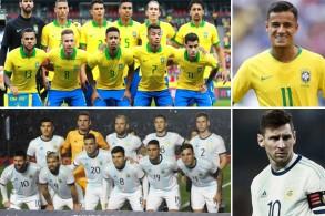 تبلغ قيمة قائمة منتخب البرازيل نحو 956.5 مليون يورو فيما تبلغ نحو 667.7 مليون يورو