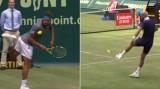 مباراة تنس تتحول إلى مواجهة استعراضية في كرة القدم