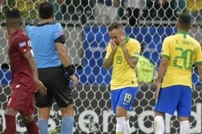 عانى المنتخب البرازيلي مجددا لايجاد طريقه الى الشباك