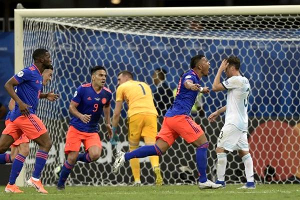 هذا الفوز الأول لكولومبيا على الأرجنتين في المسابقة القارية منذ 20 عاما