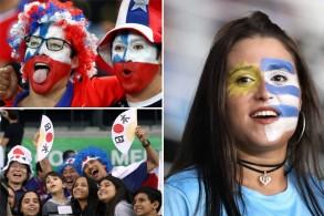 فرحة أوروغوانية وخيبة أمل يابانية وتشيلية.. في صور