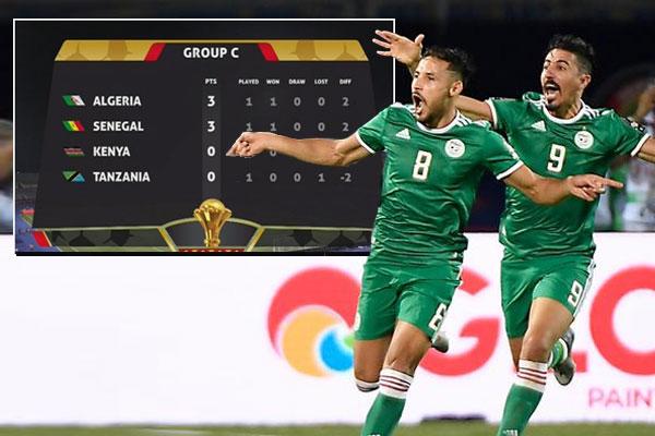 انهى منتخب الجزائر اختبارات الدور الأول في بطولة كأس أمم إفريقيا المقامة حالياً بمصر بتحقيقه العلامة الكاملة