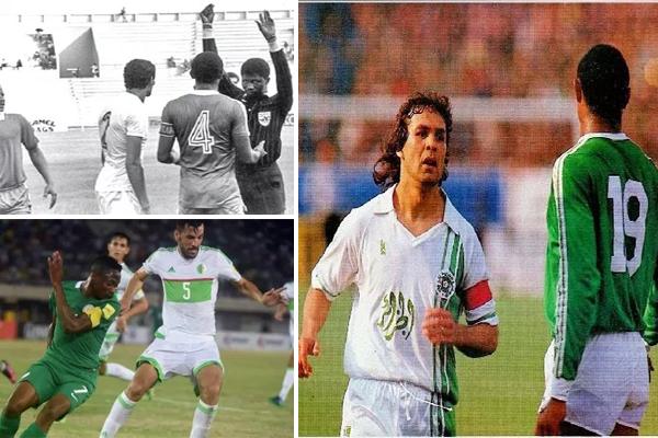 الجزائر ونيجيريا قد التقتا ثماني مرات في سبع دورات نهائية