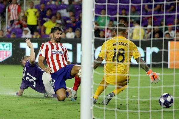 فوز أتلتيكو مدريد على نجوم الدوري الأميركي بثلاثية نظيفة