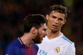 صورة تجمع بين نجم ريال مدريد السابق ويوفنتوس الحالي كريستيانو رونالدو ونجم برشلونة ليونيل ميسي