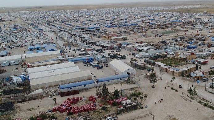 مخيم الهول السوري على حدود العراق والمخصص لعائلات داعش