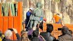 مليلية تزيل آخر تمثال للديكتاتور الإسباني فرانكو