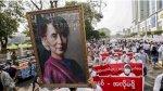 انقلاب ميانمار: سان سو تشي تظهر لأول مرة منذ اعتقالها في محكمة في العاصمة