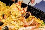 طبق الباييلا بثمار البحر
