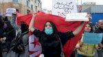 تظاهرة في تونس للمطالبة باطلاق سراح ناشطة وموقوفين خلال احتجاجات اجتماعية