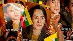 آلاف المتظاهرين في شوارع بورما الأحد وسقوط جرحى
