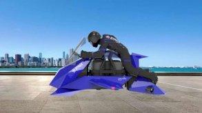 شاهدوا أول دراجة نارية طائرة في العالم