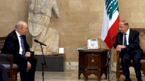 لودريان يهدد بالعقوبات على مسؤولين لبنانيين لمنع