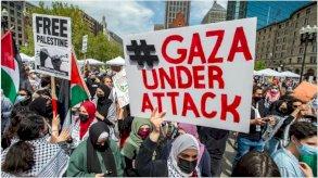 الآلاف يتظاهرون في الولايات المتحدة وكندا دعمًا للفلسطينيين