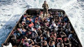 أكثر من خمسين مفقودا اثر غرق قارب مهاجرين أبحر من ليبيا