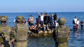 150 مهاجرا يحاولون العبور إلى جيب مليلة الاسباني شمال المغرب