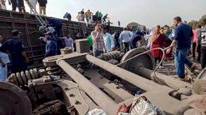 اصطدام قطار بضائع بحافلتي ركاب جنوب القاهرة