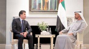 بارزاني يبحث مع بن زايد مستقبل العراق وتطورات المنطقة