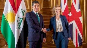 لندن: بارزاني وتروس أكدا أهمية استقرار العراق للمنطقة والعالم