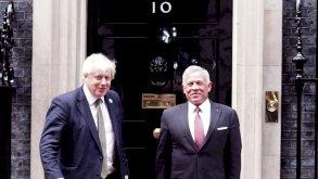 عاهل الأردن يلتقي جونسون وبرلمانيين بريطانيين