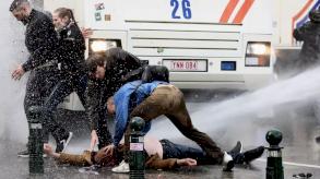 الشرطة البلجيكية توقف 132 شخصا خلال تجمع محظور في بروكسل