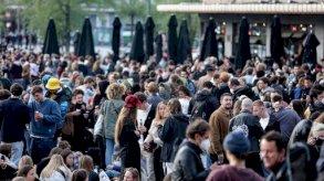 الشرطة تفرق تجمعًا ليليًا في بلجيكا