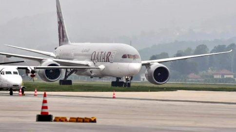 الخطوط الجوية القطرية في مطار حمد الدولي بالعاصمة القطرية الدوحة