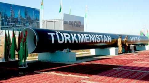 لحظة إطلاق خط أنابيب الغاز الذي يمتد من تركمانستان إلى الصين بكامل طاقته
