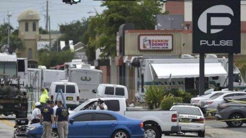مكان الاعتداء على ملهى ليلي للمثليين في مدينة اورلاندو في ولاية فلوريدا الأميركية في يونيو 2016