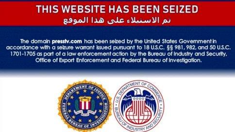 ألرسالة الأميركية على المواقع التي استهدفها الحجب