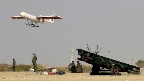 صورة من الأرشيف لإطلاق مسيّرة إيرانية