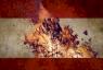 صورة متداولة للعلم اللبناني وسط لهيب النار