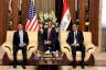 وزير الدفاع الأميركي مارك أسبر مجتمعًا في بغداد مع نظيره العراقي نجاح الشمري