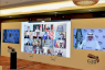 قاعة الإعلام في الرياض في صورة من أبريل الماضي وزعتها مجموعة العشرين